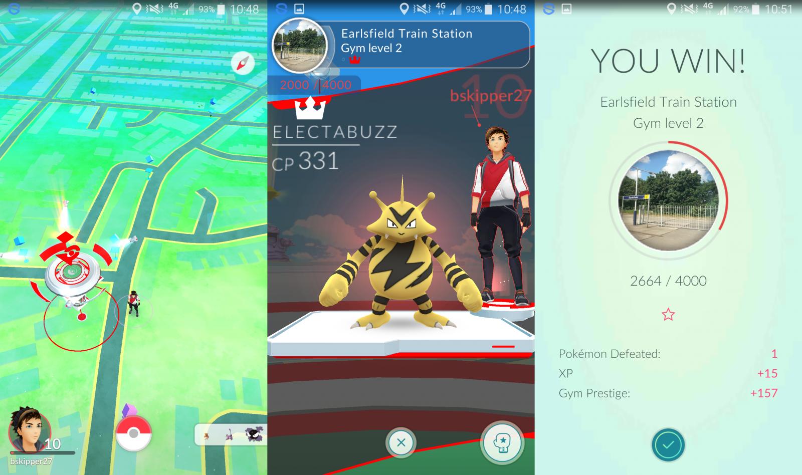 chinh phuc phong gym trong pokemon go