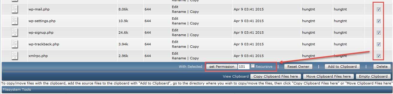 Sử dụng File Manager trên DirectAdmin