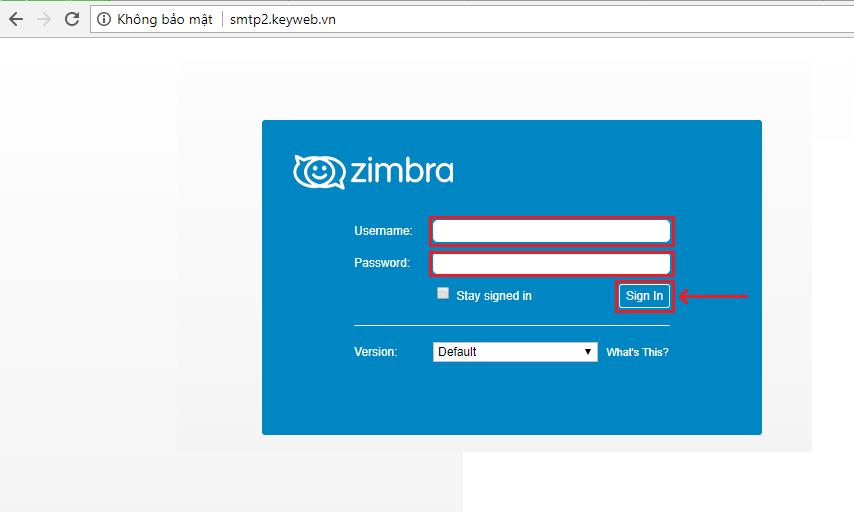 Hướng dẫn đăng nhập và sử dụng email Zinbra