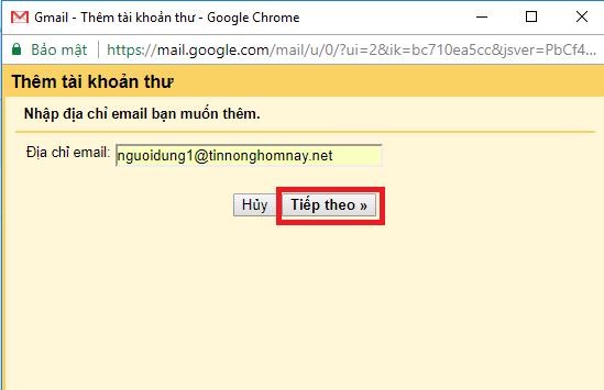 Hướng dẫn cài đặt kết nối email tên miền vào tài khoản Gmail